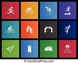 iconos Metro - triatlón