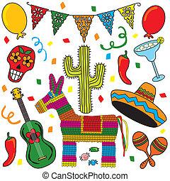 iconos mexicanos de clipart