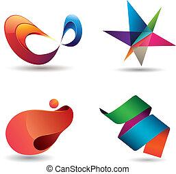Iconos modernos coloridos