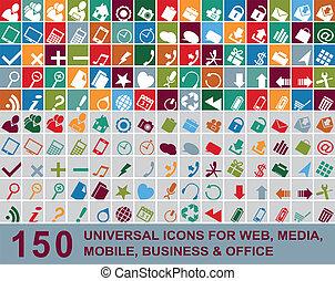 iconos multicolores Web