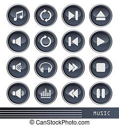 iconos musicales listos