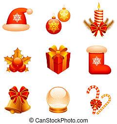 iconos navideños.