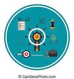 Iconos para el concepto de gestión