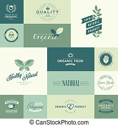Iconos para productos orgánicos naturales