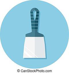 iconos planos con cuchillo de masilla