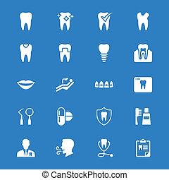 iconos planos dentales