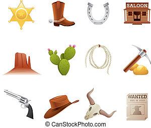 iconos salvajes del oeste