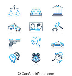 iconos, serie, orden, ley, marina, |