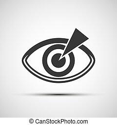 iconos vectores del ojo humano