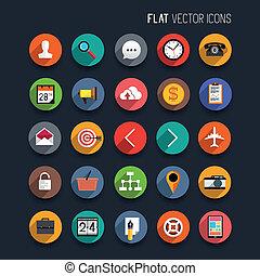 Iconos vectores planos