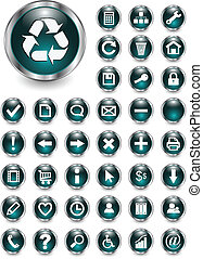 iconos Web, botones