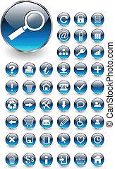 iconos Web, botones listos