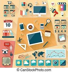 iconos web de la optimización web