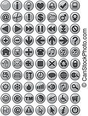 iconos web en plata