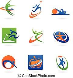 Iconos y logotipos de colores