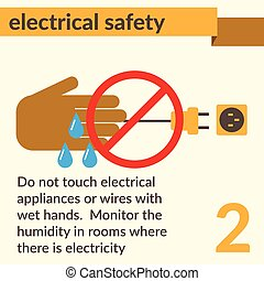 Iconos y señales de seguridad eléctrica