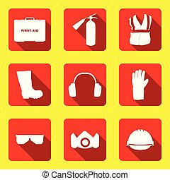 Iconos y señales de seguridad y salud