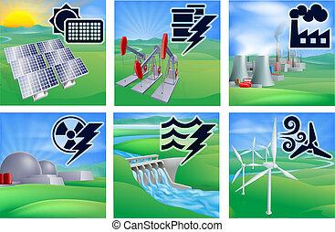 Icos de energía y energía