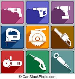 Icos de las herramientas eléctricas