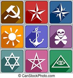 Icos de los diferentes símbolos