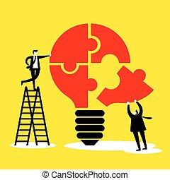 idea, concepto, trabajo en equipo