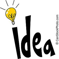 Idea de diseño de palabras