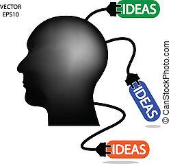 idea, empresa / negocio, adeudo en cuenta, hombre