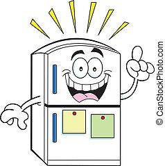 idea, refrigerador, caricatura