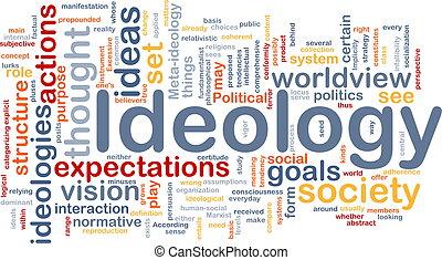 ideología, concepto, plano de fondo