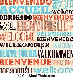 idioma, diseño, cartel