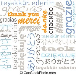 idiomas, usted, tagcloud, agradecer