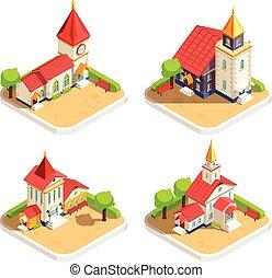 Iglesia 4 iconos idípicos establecidos