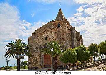 Iglesia Aljucen en extremadura spain