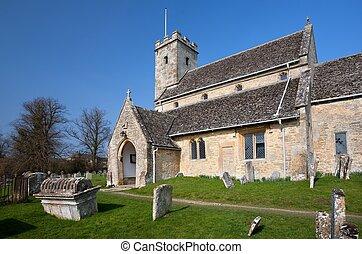 Iglesia Cotswold en Swinbrook