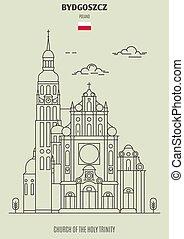 Iglesia de la santa trinidad en bydgoszcz, Polonia. icono de marca