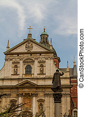 Iglesia de los santos Peter y Paul en el viejo distrito de Krakow, Polonia