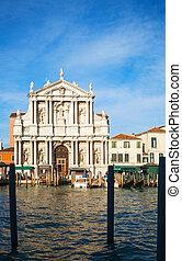 Iglesia de los scalzi en Venecia, Italia