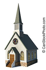 Iglesia en blanco