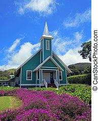 Iglesia hawaiana colorida