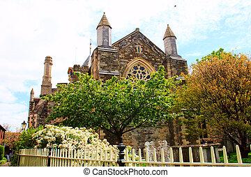 Iglesia parroquial de centeno en Inglaterra