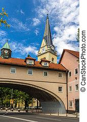 Iglesia parroquial de San James en Ijubljana, eslovenia