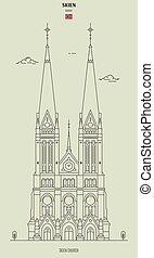 Iglesia Skien, Noruega. icono de marca