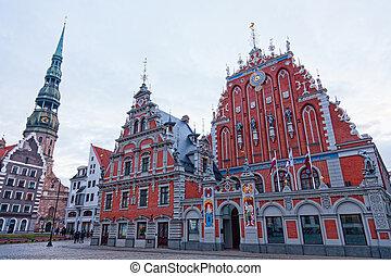 Iglesia y casa de los negros. Riga, Letonia
