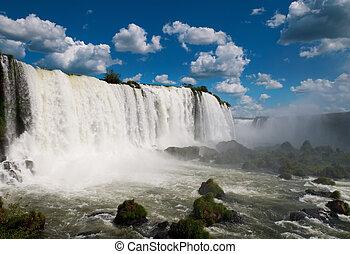 iguazu, waterfalls., brasil, américa, sur, argentina