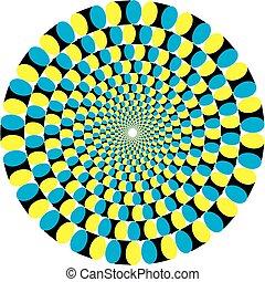 illusion., ilustración, vector