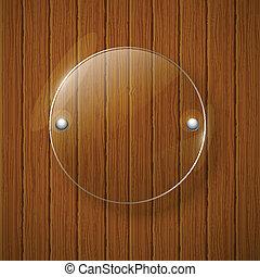 illustration., de madera, resumen, framework., vidrio, vector, plano de fondo