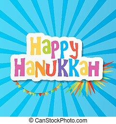 illustration., feliz, vector, fondo., feriado, judío, hanukkah