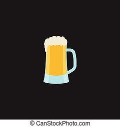 illustration., -, imagen, vector, bosquejo, o, cerveza, cerveza, color, plan preliminar