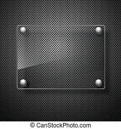 illustration., metal, resumen, framework., vidrio, vector, plano de fondo