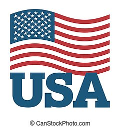 illustration., símbolo, fondo., señal, américa, nacional, revelado, blanco, patriótico, país, estados unidos, estado, usa., bandera, america.